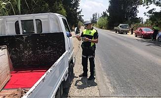 Polis Güzelyurt'ta trafik denetimi yaptı