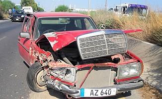Lefkoşa-Gazimağusa anayolu üzerinde kaza!