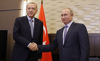 Erdoğan ile Putin bir araya geldi...