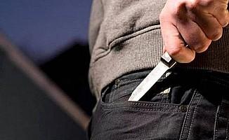Çatalköy'de bıçakla yaralama...