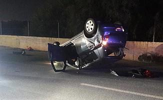 Lefkoşa'da korkutan kaza! 3 yaralı...