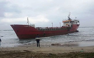 "Tanzanya bandralı ""Rawan"" isimli gemi karaya sürüklendi..."