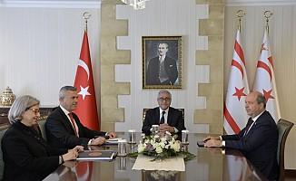 Akıncı, Uluçay, Tatar ile Şefik'i kabul etti