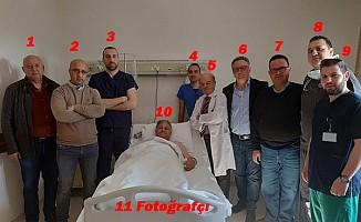 Hastane odasında skandal görüntü!