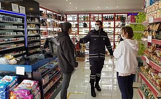Girne Belediyesi işyerlerine denetimlerini sürdürüyor...