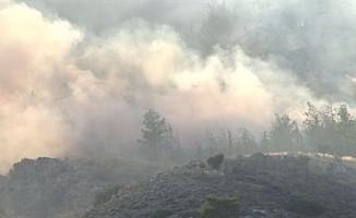 Alevkayası ile Beyköy arasındaki dağlık alanda yangın çıktı!