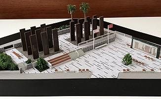 Gazi Baf Şehitler anıtı inşaatında temel atma aşamasına gelindi