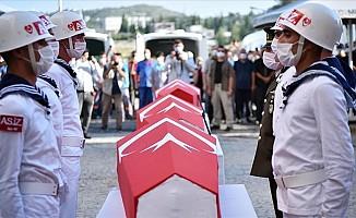 Şehit düşen 4 askerin cenazesi, törenle memleketlerine uğurlandı