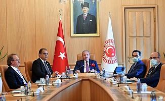 Sucuoğlu, TBMM Başkanı Şentop ile görüştü