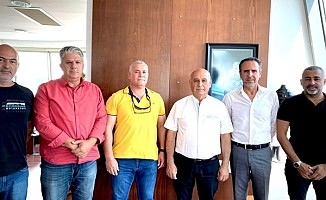 Tel-Sen, Gönyeli Belediye Başkanı'na teşekkür ziyareti gerçekleştirdi