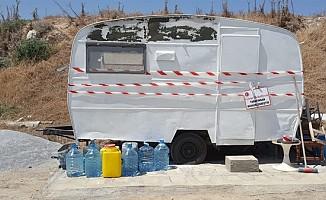 Karakum'da Karavan ve çadır zabıta ekipleri tarafından kaldırıldı