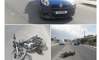 Lefkoşa'da motosiklet kazası, 1 yaralı