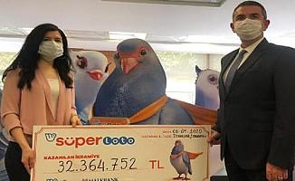 Süper Loto çekilişinde 32 milyon TL kazandı!