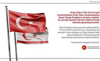 Cumhurbaşkanı Tatar, ilk yurt dışı ziyaretini Ankara'ya yapacak