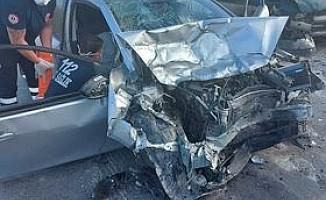 Değirmenlik - Girne Anayolunda iki araç çarpıştı
