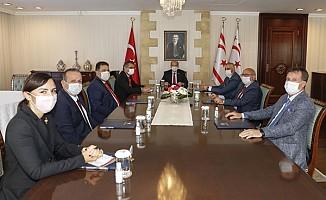 Tatar, Meclisi'te temsil edilen siyasi partilerin temsilcileri ile görüştü