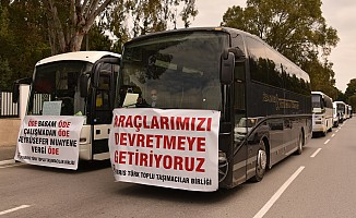 Bin 800 araç Başbakanlık'a dayandı!
