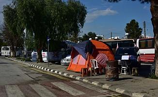 Kıbrıs Türk Toplu Taşımacılar Birliği'nin eylemi devam ediyor