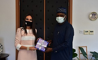 Nijerya'nın Ankara Büyükelçiliği Ataşesi'nden DAÜ'ye ziyaret