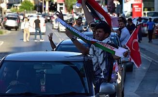 Filistin'e destek gösterisi yapıldı