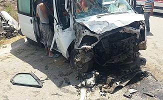 Tatlısu-Girne ana yolunda trafik kazası!