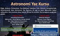 DAÜ astronomi kursu düzenliyor