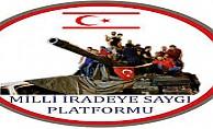 Milli İradeye Saygı Platformu da Barış Harekatı'na destek belirtti