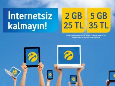 Turkcell'den internette  haftalık paketler
