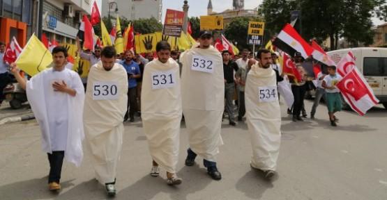 YÜRÜYÜŞLE MISIR'DAKİ İDAM KARARLARI KINANDI